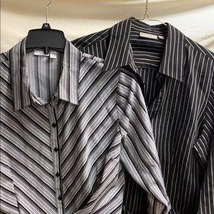Two xl button down blouses